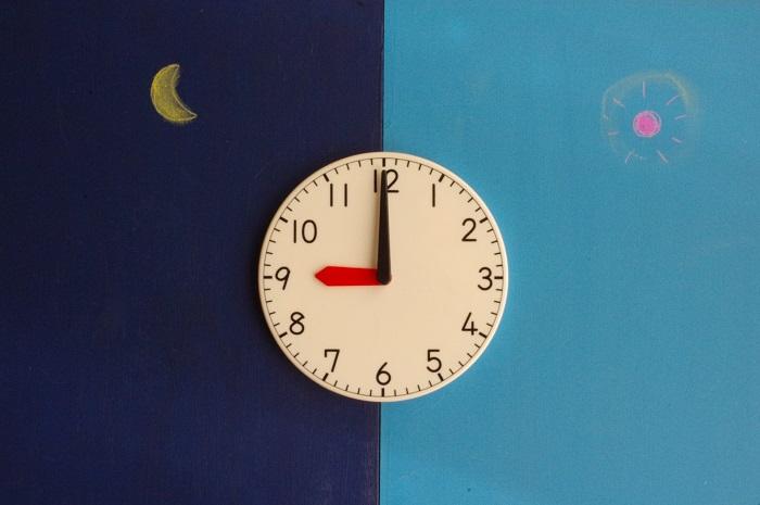 朝晩 時計